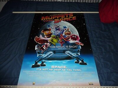 """THE MUPPETS: MUPPETS FROM SPACE (1999) 27"""" x 40"""" Home Video Poster"""