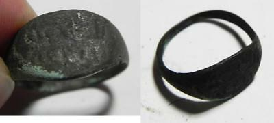Zurqieh -As2243- Nabataean Or North Arabian Inscribed Bronze Ring. As Found. 200