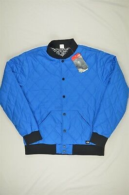 105a88c74 NEW MENS THE North Face Jester Reversible Jacket Quilted Bomber Blue M  #95-52490