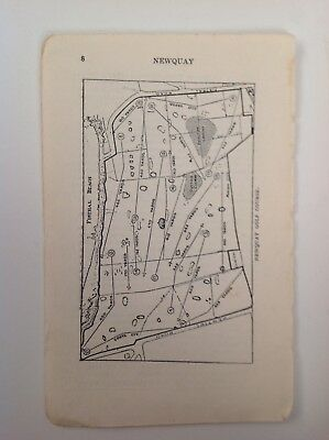 Newquay Golf Course Plan, 1921 Vintage Map, Ward Lock, Atlas