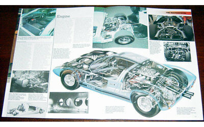 Ford GT40 Mk II - Technical Cutaway Drawing and Fold-out Poster Print