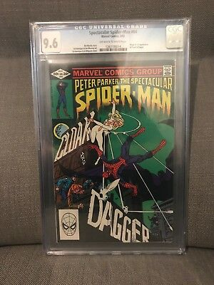 Spectacular Spiderman 64 CGC 9.6 - 1st Cloak and Dagger, MOVIE SOON!!!