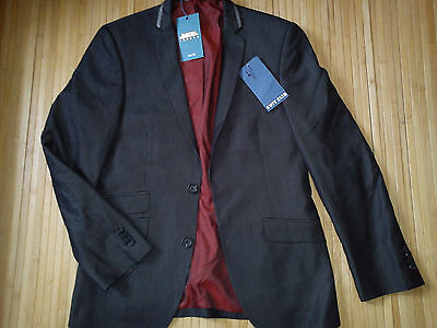 New Burton Grey Boys Mens Blazer Jacket Chest 36 Euro 46S Slim Fit(0.6)