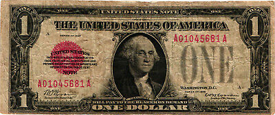 1928 $1.00 United States Note (Red Seal) FR 1500 - George Washington - FINE