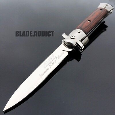 """9"""" TAC FORCE Italian MILANO Stiletto Spring Assisted Open Pocket Knife Classic"""