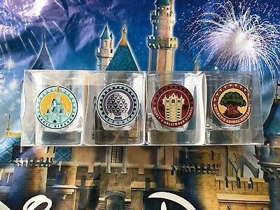 Set 4 Walt Disney World 2018 Park Shot Glass Set Epcot Magic Animal Kingdom