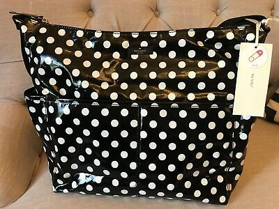 KATE SPADE Black Dots DAYCATION BABY DIAPER Polka Dot Bag  NWT ! *SALE*!🔥