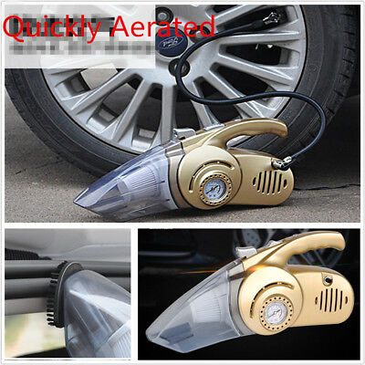 12V Portable Handheld Cyclonic Car Vacuum Cleaner LED / Wet & Dry / Pump 4-In-1
