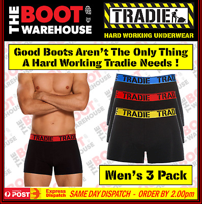 Tradie Underwear 'Brights' - Cotton Trunks  -  3 Pack - Made Tradie Tough