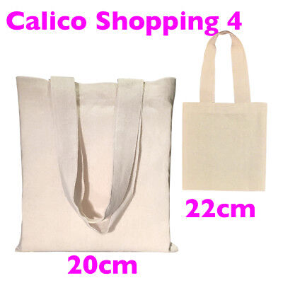Calico Shopping Bag Small Calico Carry Bag Size 3 H22cm x W20cm Pkts:1-200