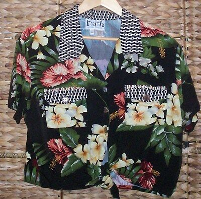 Hawaiian Vintage 60's Top Full Detailed With Bead And Shell Stunning
