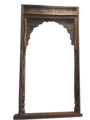 Antique Arch Room Entrance Gate Headboard Hand Carved Traditional Architectural