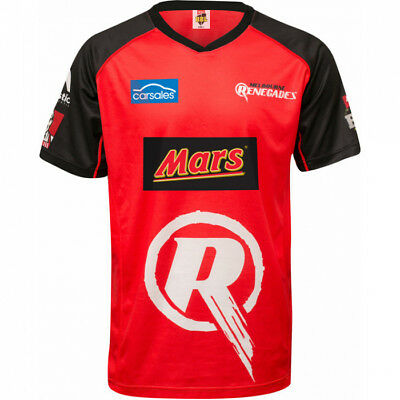 MAJESTIC Melbourne Renegades Onfield SS Replica Shirt Size 12 Red Womens 2017-18