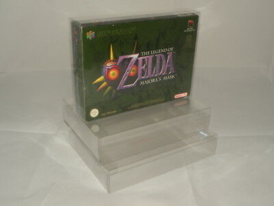TribeRetro Nintendo N64 SNES Box Protectors Maintain Collection! - 0.3mm PET NEW