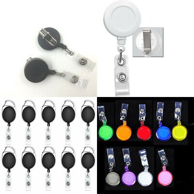 100 50 Wholesale Retractable Reel ID badge with Belt Swivel Alligator Clip