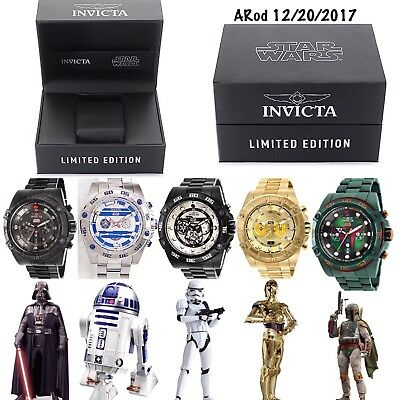 Invicta STAR WARS 52mm Limited Edition Stainless Steel - Entire Watch Collection
