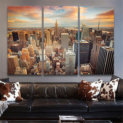 New York City Canvas Print Painting Picture Wall Art Decor Landscape Unframed UK