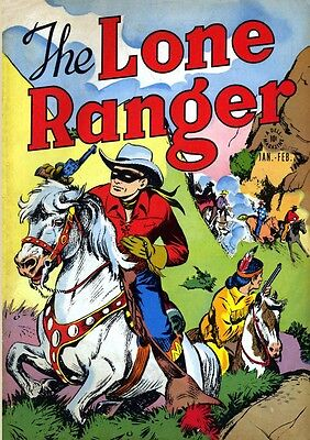 "Golden Age Western Comics on DVD Hero of Heroes ""The Lone Ranger"" 1-145"
