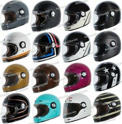 TORC T1 Retro Full Face Motorcycle Fiberglass Helmet - DOT ECE 22.05