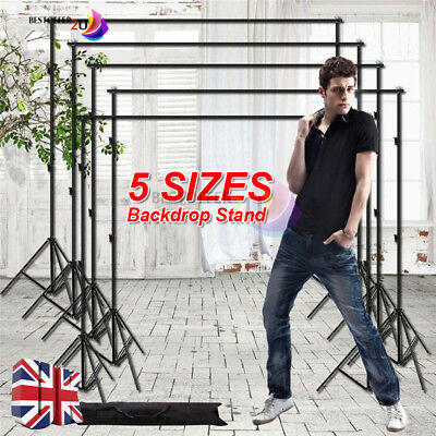 5 Sizes Heavy Duty Adjustable Photography Background Support Stand Kit With Case