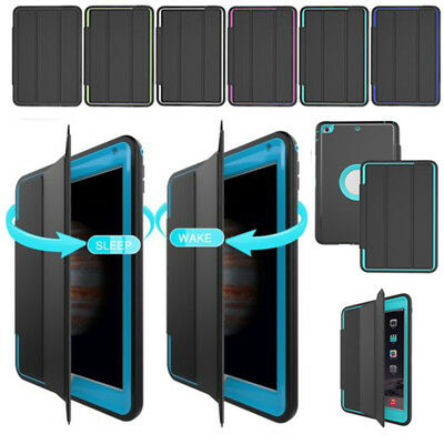 Heavy Duty Smart Cover Shockproof Hard Back Case for iPad 4 3 2 Air MINI 123 Pro