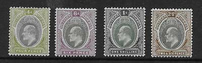 SOUTHERN NIGERIA  SG 14/17  1903/4 WMK CROWN CA 4d TO 2/6d   FINE MOUNTED MINT