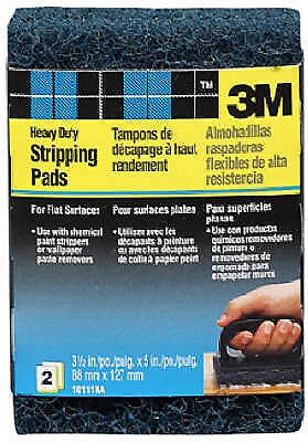 2 Pack Heavy Duty Replacement Stripping Pads, 3M, 10111