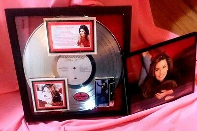"Shania Twain  ""Come on Over""  PLATINUM ALBUM AWARD 20-million Certified Authenti"