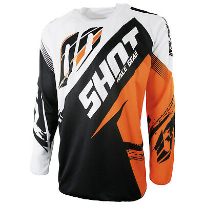 New Adult Shot Contact Fast Ktm Orange White Motocross Mx Enduro Mtb Dh Jersey