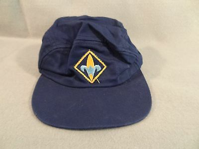 Vintage BOY SCOUTS OF AMERICA BSA Ball Cap HAT Blue WEBELOS Size 6 5/8