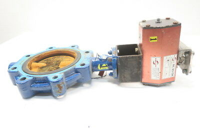 Grinnell LD-8270-4 Series 8000 Iron Flanged 6in Butterfly Valve