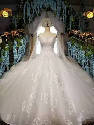 Lace Cape Ball Gown Wedding Dress Crystal 5 Colors Available Lace Bridal Dresses