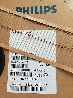 ZenerDiode BZX79-C3V9 part reel approx 5000pcs Philips £35.00 Z2063