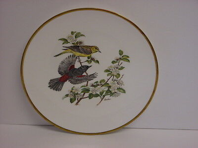 Orchard Orioles Collector Plate NIB Woodland Birds of America Boehm England