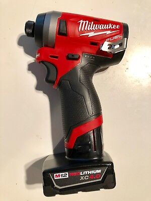Milwaukee 2553-20 M12 FUEL 12V Li-Ion Brushless Impact Driver + (1) 4.0AH BATT