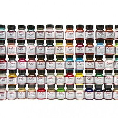 Angelus Acrylic Leather & Vinyl Shoes Purse Waterproof Paint 1 oz 60 Colors