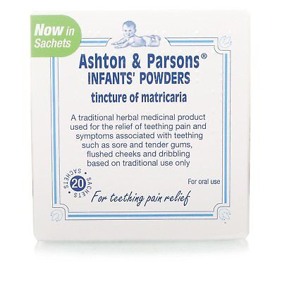 Teething Powders Ashton And Parsons 20 Sachets Infants Sealed