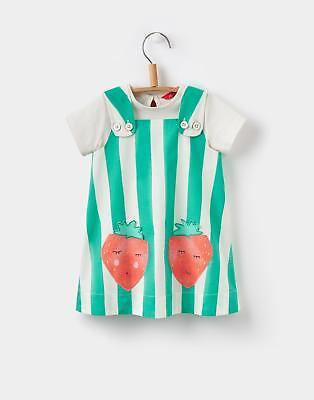 Joules Pippin Pinafore Dress in Green Stripe Size 6min9m