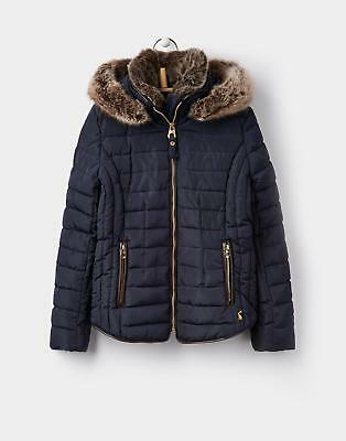 Joules Girls Gosfield Padded Jacket with Hood Size 3 12 Years in Marine Navy