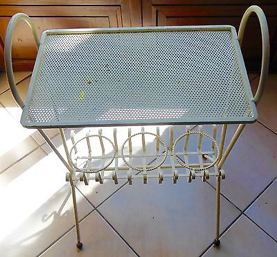 MATHIEU MATEGOT -Very RARE TABLE SERVING BAR sheet metal 50 VINTAGE DESIGN XX