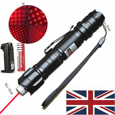Professional 1mw 009 Red Laser Pointer Light Pen Lazer Beam +Battery UK Charger