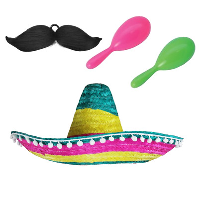 RED SOMBRERO PACK WITH POM POM EDGE WHOLESALE LOT MEXICAN WESTERN