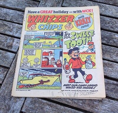 VINTAGE WHIZZER AND CHIPS COMIC 29th July 1978