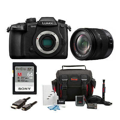 PANASONIC LUMIX GH5 4K Mirrorless Camera with 14-45mm f/3.5-5.6 Lens Bundle