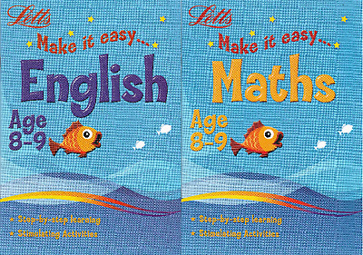 Letts Maths & English Age 8-9 Activity Learning Books - 2 Book Set