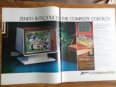 1972 Zenith TV Television Ad Introduces the Complete Color TV  Avante