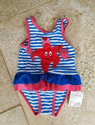 BNWT mothercare starfish applique swimming suit 6-9 months