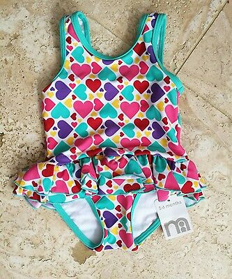 BNWT mothercare heart print swimming suit 3-6 months