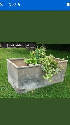 Weathered galvanised water tank 3ft trough planter herb flower Several available
