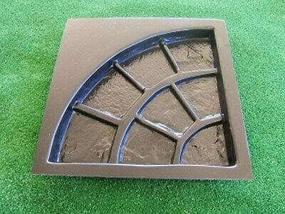 Quarter Circle Cobblestone Paver Mould for Patio Area Paving Concrete Casting